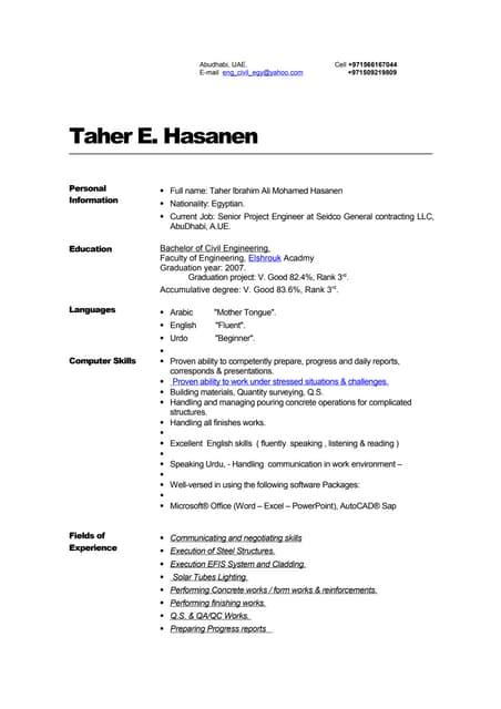 ENG Taher CV