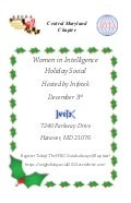 Women in Intelligence Holiday Social Hosted By Infotek