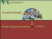 Growth Through Private Equity In Africa