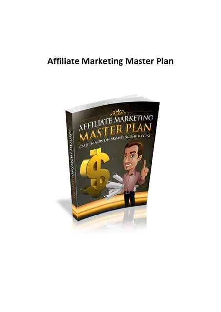 Affiliate marketing master_plan