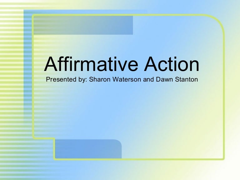 Affirmative Action.Ppt