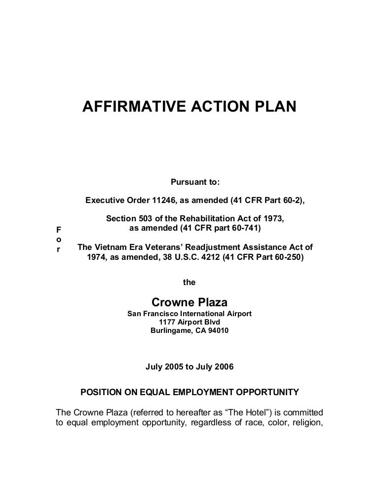 Affirmative Action Plan1