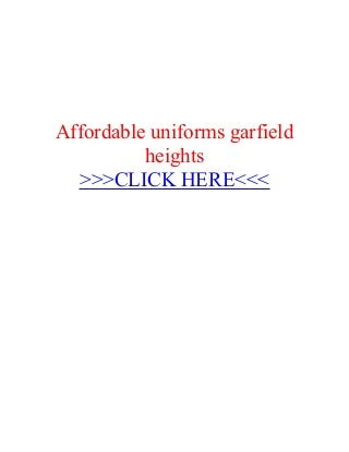 Affordable uniforms-garfield-heights
