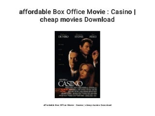 affordable Box Office Movie : Casino - cheap movies Download