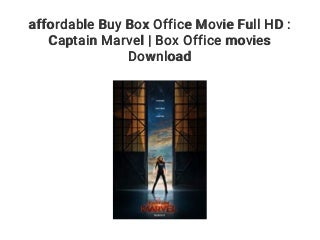 affordable Buy Box Office Movie Full HD : Captain Marvel - Box Office movies Download