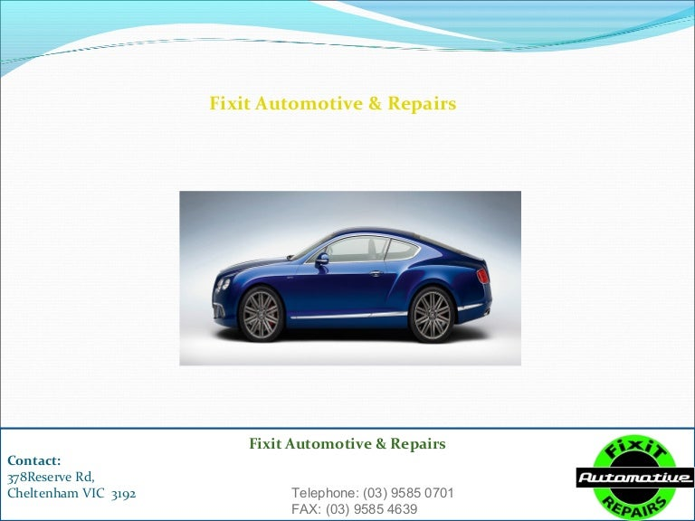 Affordable car repairs cheltenham | fixit automotive