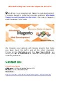 Affordable Magento web Development Services