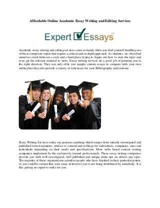 Editing essays online