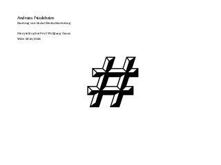 Hashtag and Social Media Marketing