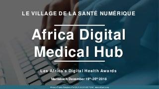 Africa digital medical hub marrakech 2018