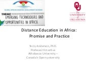 Distance Education- Emerging Technologies and Opportunities in Africa