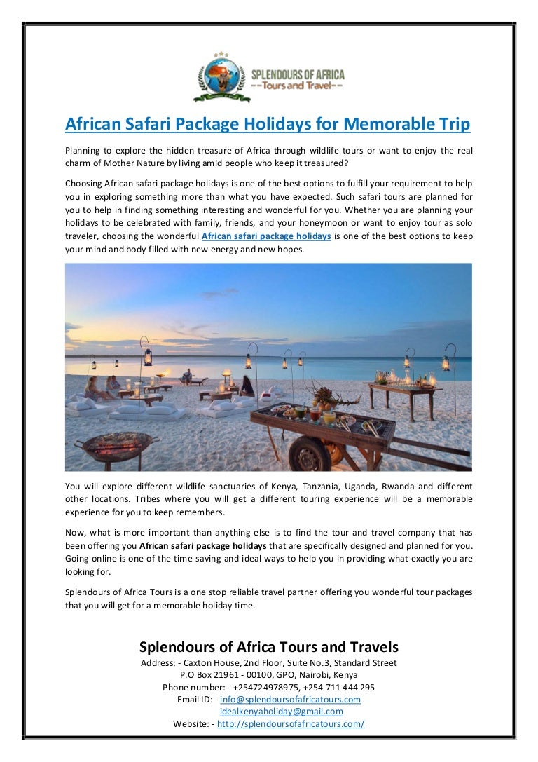 African safari package holidays for memorable trip