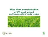 Africa Rice Center (AfricaRice): A CGIAR research center and pan-African association of member countries