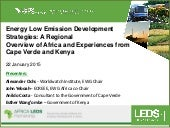 Energy Low Emission Development Strategies: A Regional Overview of Africa and Experiences from Cape Verde and Kenya
