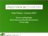 2017 CES Las Vegas and North American International Auto Show