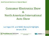 2016 CES and NAIAS