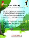 What to DO after Duck Hunting