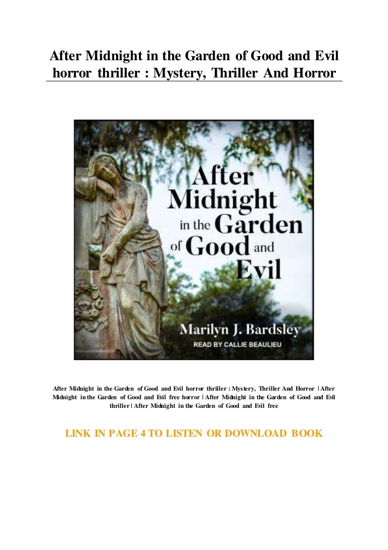 After Midnight In The Garden Of Good And Evil Horror Thriller Myste