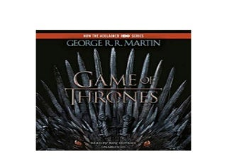 ~[DOWNLOAD_E-BOOK] LIBRARY~ A Game of Thrones A Song of Ice and Fire Book 1 Audible Audiobook Unabridged 'Read_online'