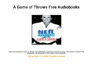 A Game of Throws Free Audiobooks