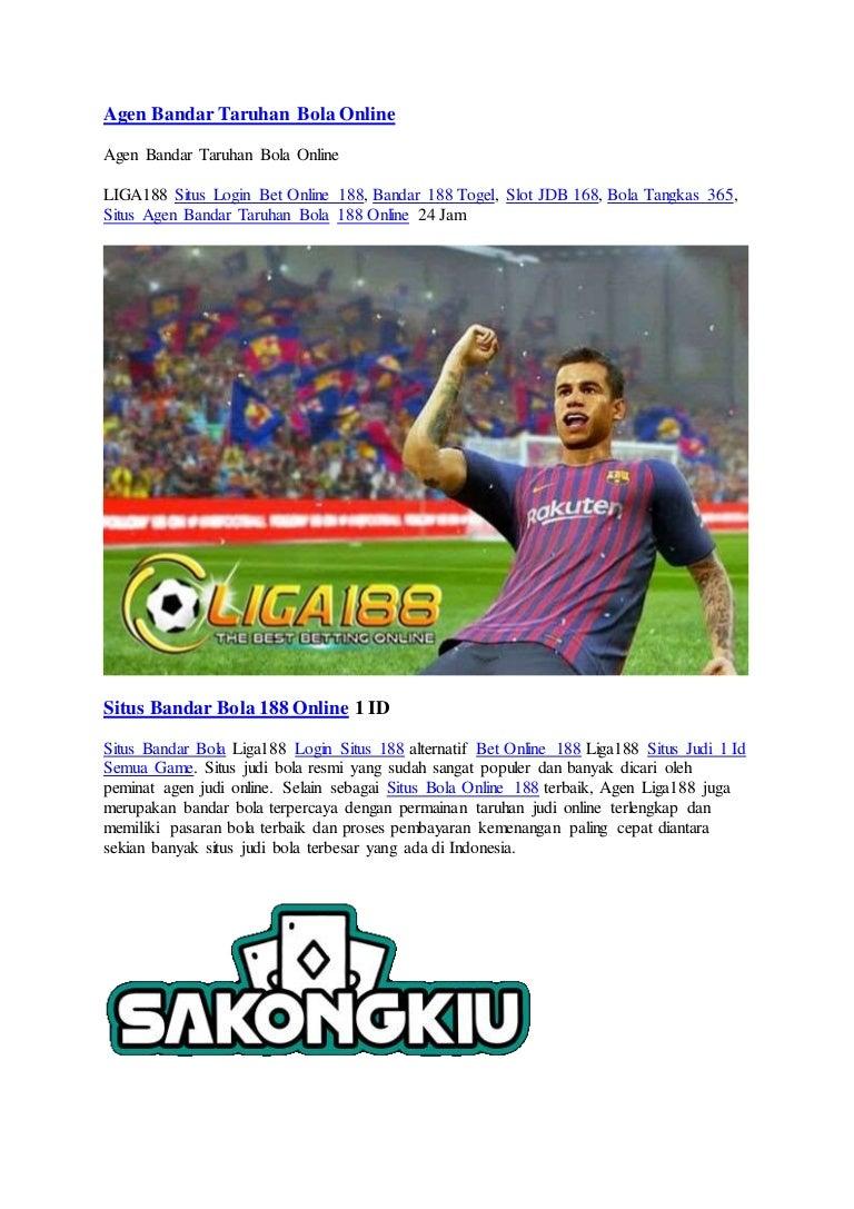 Agen Bandar Taruhan Bola Online