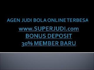 Agen bola sbobet bonus deposit dan cash back member baru