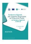 Agenda, SIGMA Public procurement review bodies conference, Ohrid 9 June 2016 (Albanian)