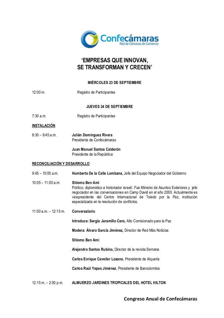 Aico Lombana agenda confecámaras 2015