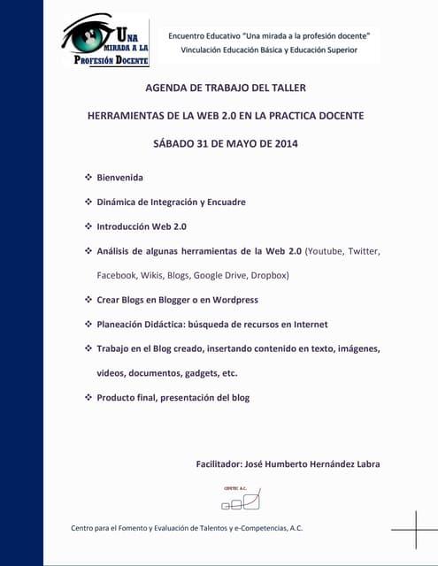 Agenda del taller