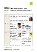 Agenda Digital Leadership Forum, Vienna, 22nd of May
