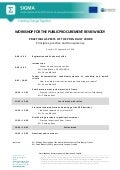 Agenda, Workshop for the Public Procurement Review Body, Pristina, September 2016