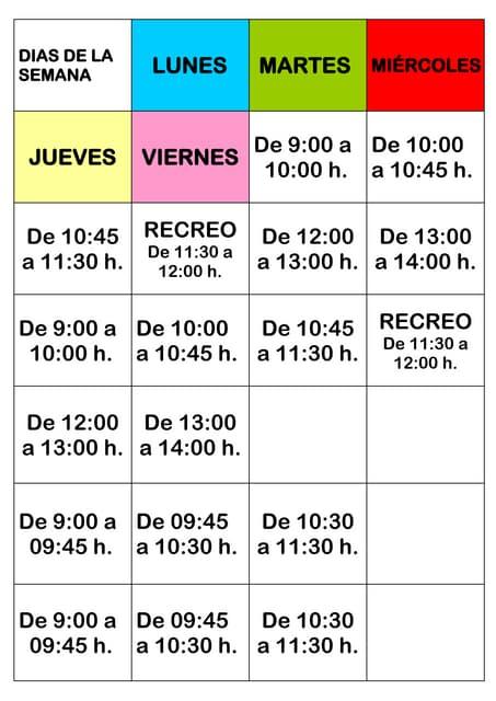 Agenda-horario