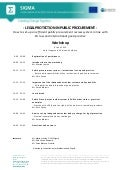SIGMA Public Procurement workshop agenda on review of Public Procurement System 9 June 2014 Moldova