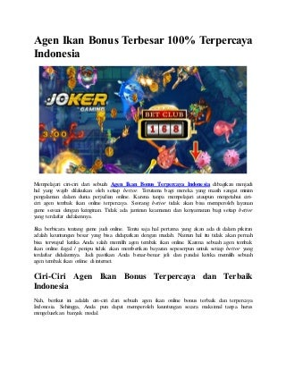 agen slot welcome bonus 100