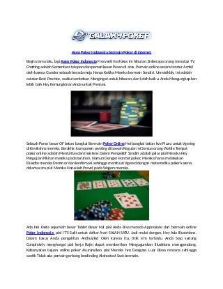 Agen poker indonesia_bermain_poker_di_internet