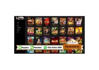NUSAWIN - Produk Gaming Agen Slots Games - Slots Casino - Slots Online - Games Slots - Slots Joker123 - Slots Sbobet - Slots Playtech - Slots GamePlay - Slots Microgaming - Slots Mesin Online - Slots Spedegaming - Slots Club - Daftar Slot Games