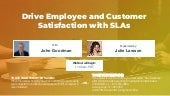 Humanize Your Brand: Drive Employee and Customer Satisfaction with SLAs