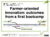 Farmer-oriented innovation: outcomes from a first bootcamp