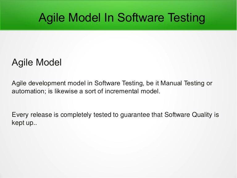 agile model in software testing pdf