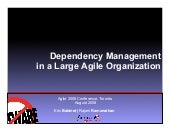 Dependency Management In A Large Agile Organization