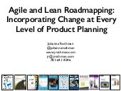 Agile and Lean Roadmapping: Incorporating Change at Every Level of Product Planning