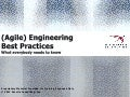 (Agile) engineering best practices - What every project manager should know