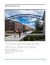 The Purdue Agile Strategy Lab and the Purdue Polytechnic Institute
