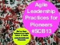 Agile leadership practices for PIONEERS