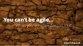 Agile Greece Summit 2017 :: You can't be agile ... when you are knee deep in the mud