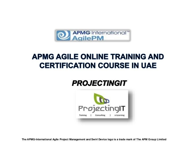 Apmg Agile Project Management Certification Course In Uae