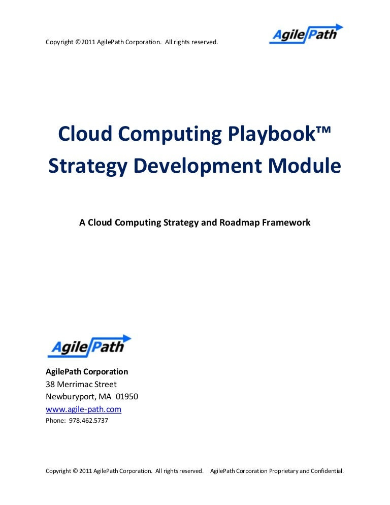Agilepath cloud playbook strategy template pronofoot35fo Choice Image