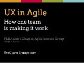 UX in Agile: How one team is making it work