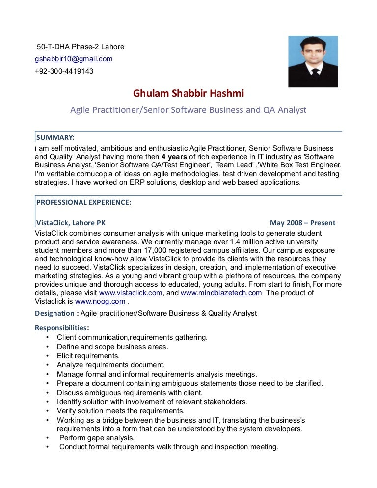 Software Quality Assurance Engineer Resumes | Template