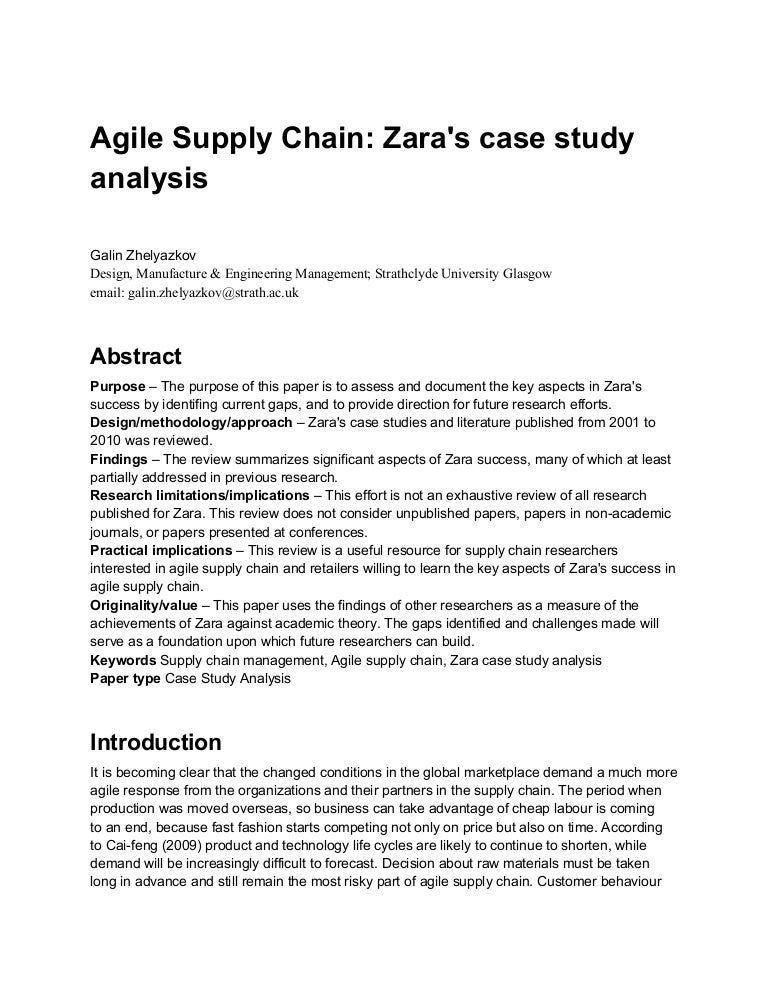 zara industry analysis essay Therefore organisations in the property industry are now threatened as their individuals jobs and organisations as a whole have  essay uk, pestle analysis.